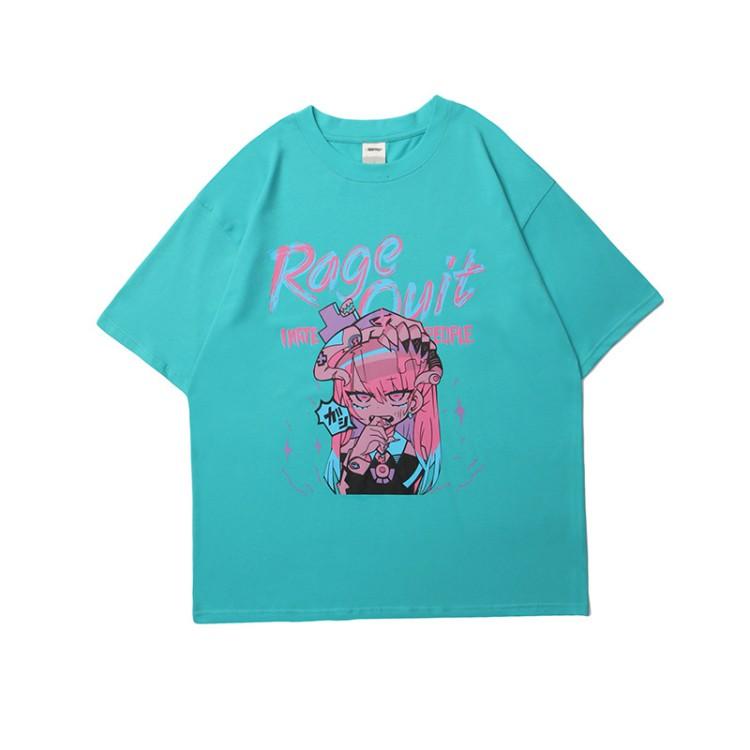 イラストプリントTシャツRagever◆トップス Tシャツ M、L、XL、XXL