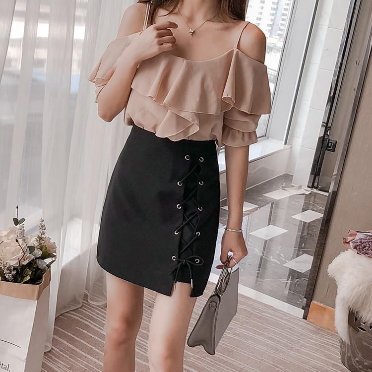 編み上げタイトスカート◆レディース ボトムス S、M、L、XL、XXL