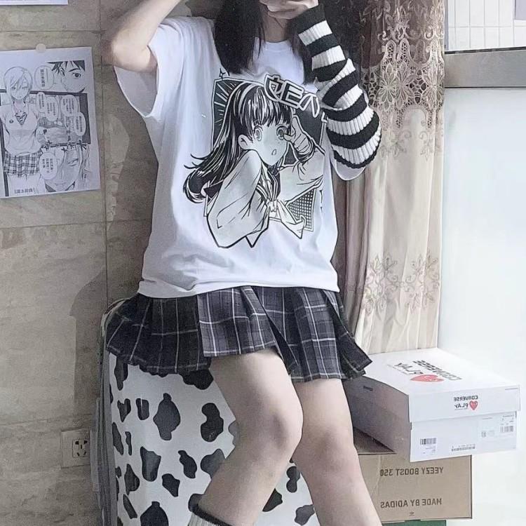 イラストプリントTシャツおはようver◆トップス Tシャツ ワンサイズ