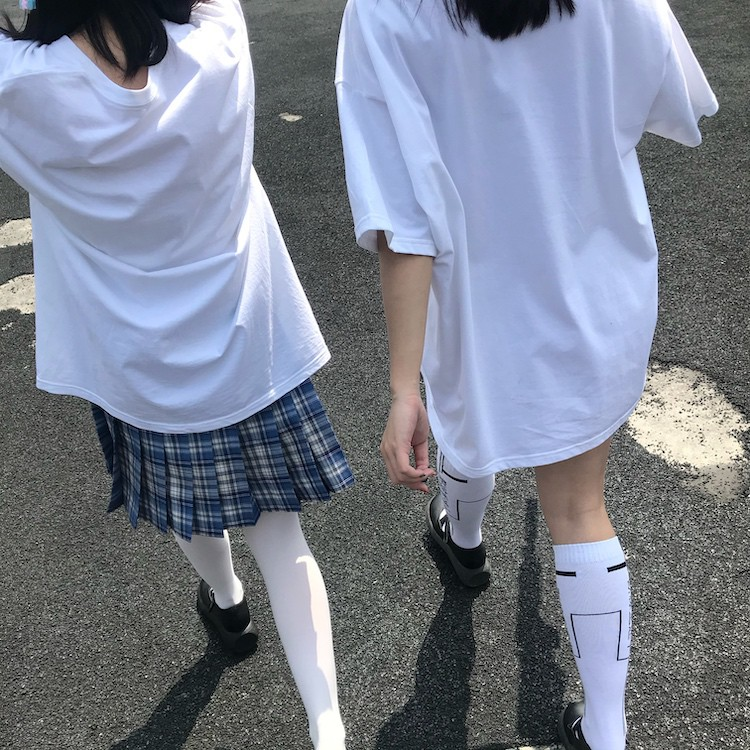 イラストプリントルーズTシャツアンドロイドver◆レディース トップス Tシャツ M、L、XL、XXL