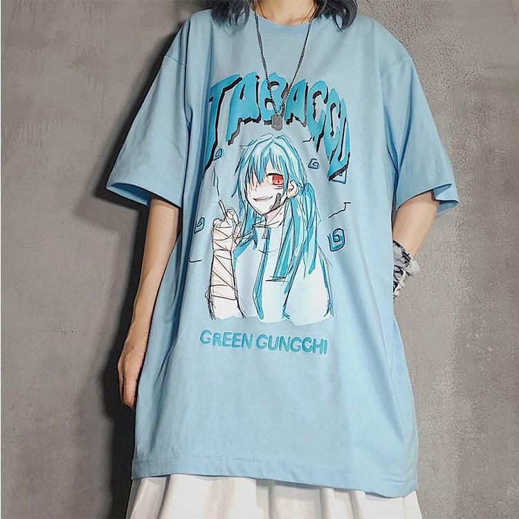 イラストプリントルーズTシャツTBCver◆レディース トップス Tシャツ M、L、XL