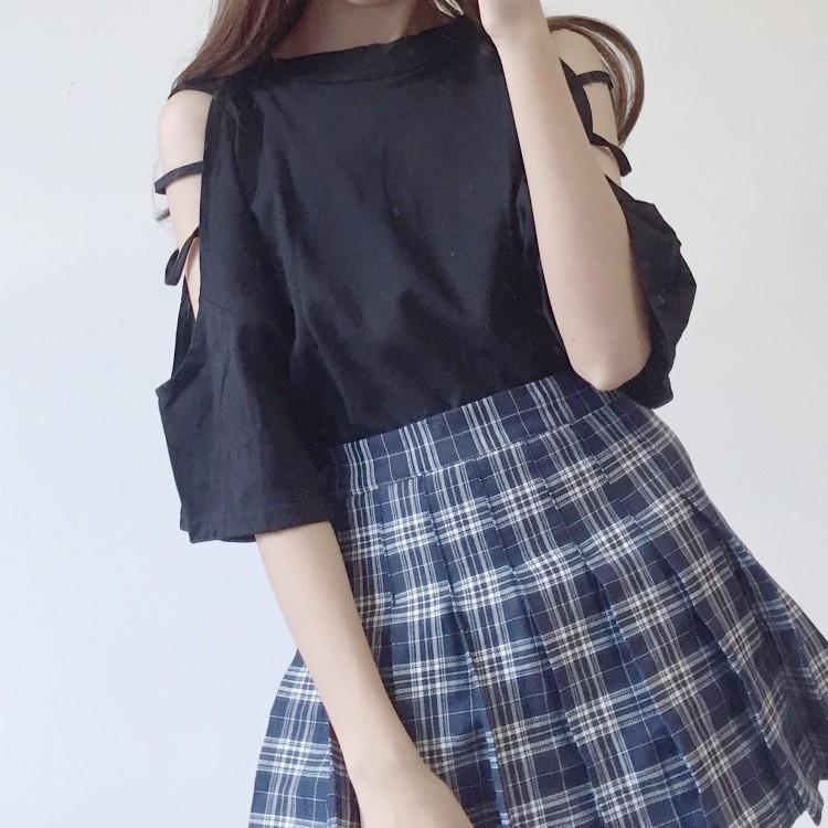ラウンドネックオフショルシャツ◆トップス ワンサイズ