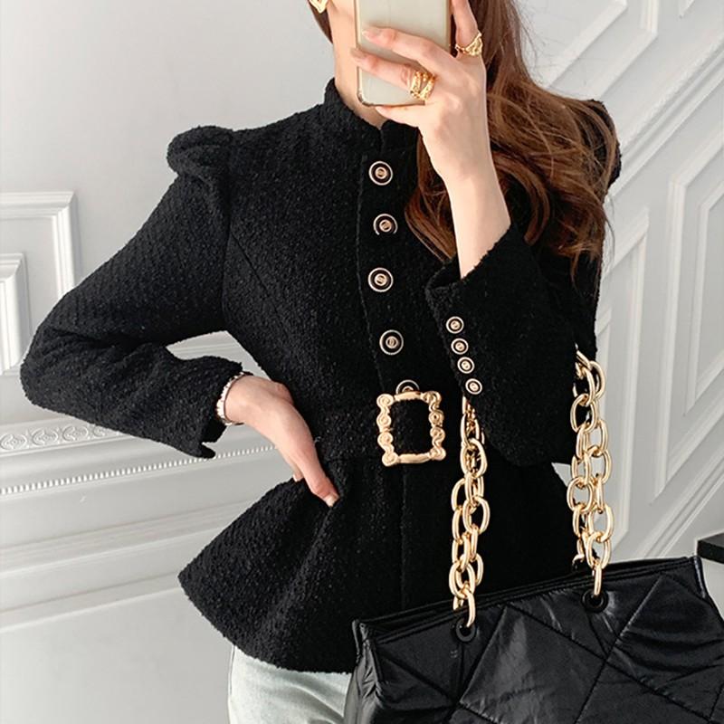 ツイードジャケット+ミドル丈スカートセットアップ◆セットアップ ワンサイズ