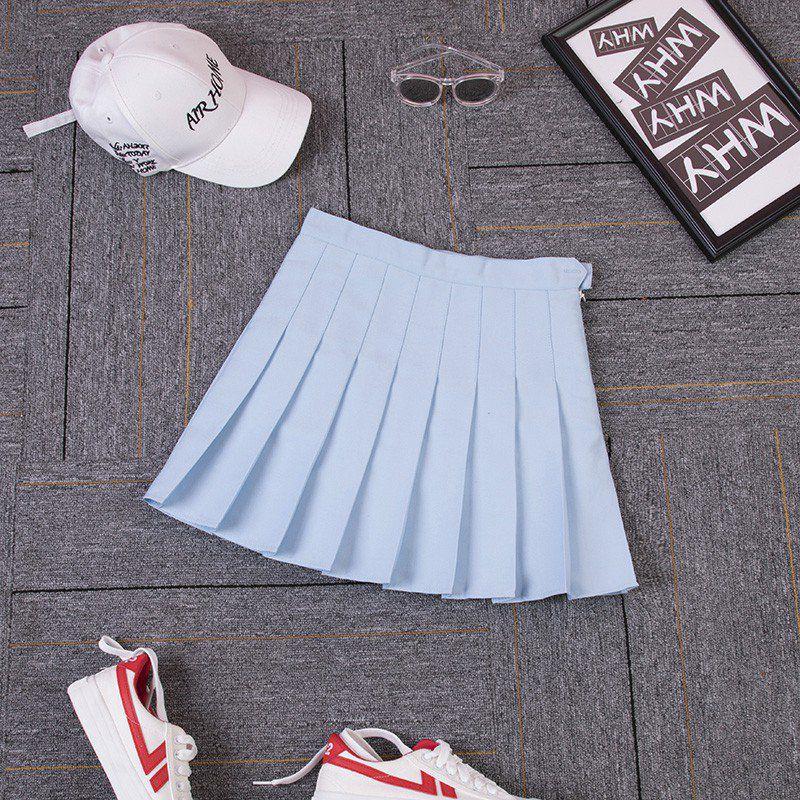 インナー付きプリーツスカート無地(2)◆レディース ボトムス XS、S、M、L、XL、XXL、XXXL