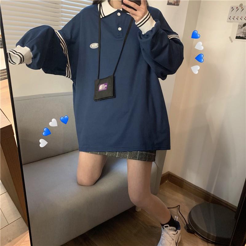 2020秋新作 カレッジスタイルルーズシャツ◆レディース アウター M、L、XL