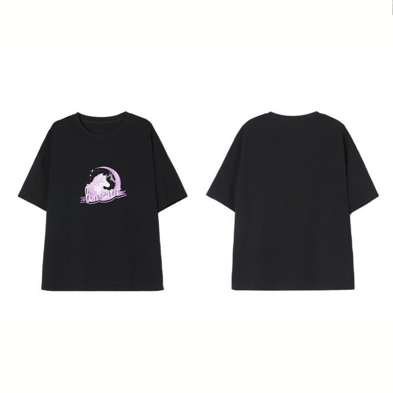 【BYJ】イラストプリントTシャツverBYJユニコーン◆トップス S、M、L