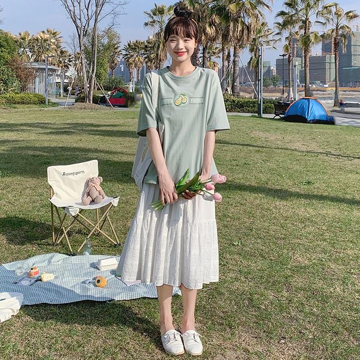 【BYJ】アボカドグリーンTシャツ◆トップス S、M、L