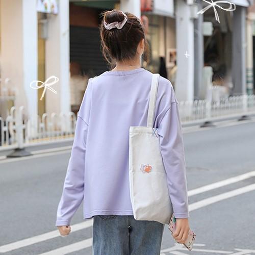 【BYJ】イラストプリントブライトベアTシャツ◆トップス S、M、L