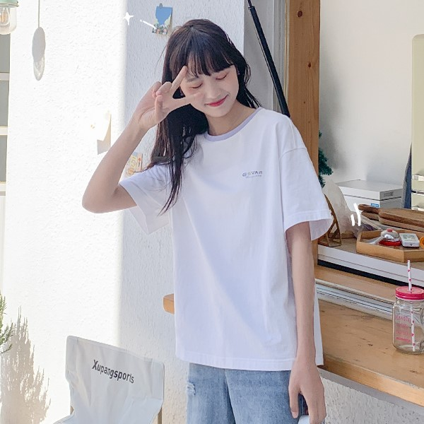 【BYJ】イラストプリントスターラビットTシャツ◆トップス S、M、L