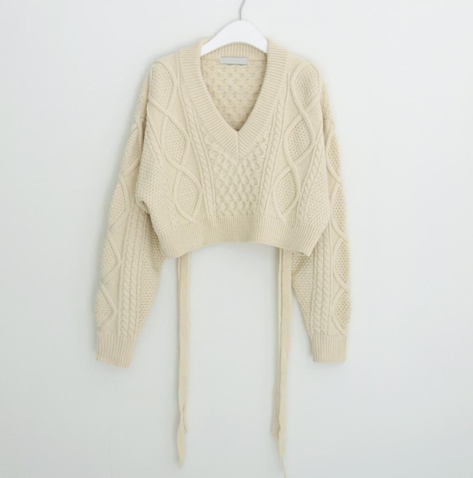 バックリボンショートセーター◆トップス ワンサイズ
