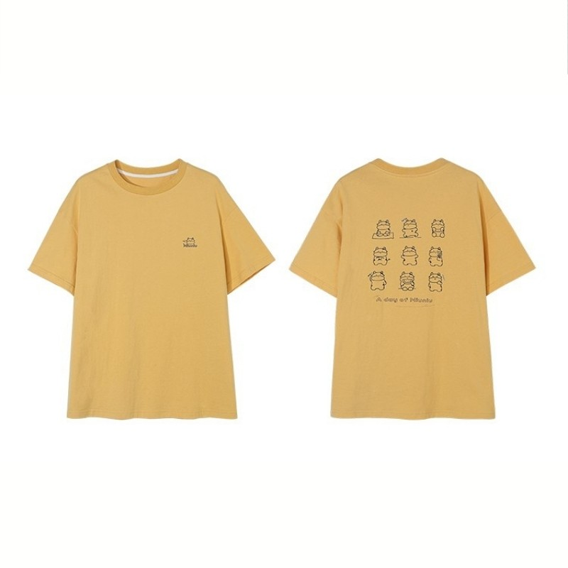 【BYJ】イラストプリントファニーカウルーズTシャツ◆トップス S、M、L