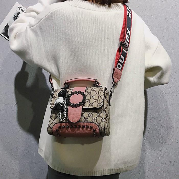 2020秋新作 コントラストカラースタッズミニバッグ◆レディース バッグ