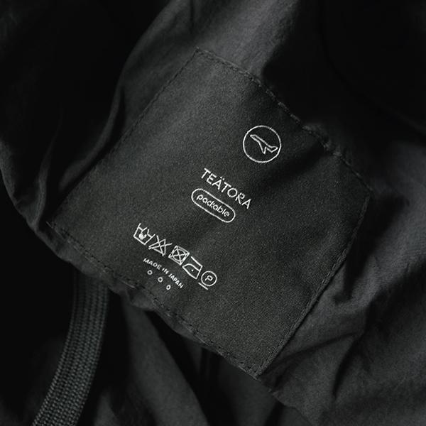 TEATORA Device Cruiser F/L Packable BLACK テアトラ デバイスクルーザー パッカブル ブラック