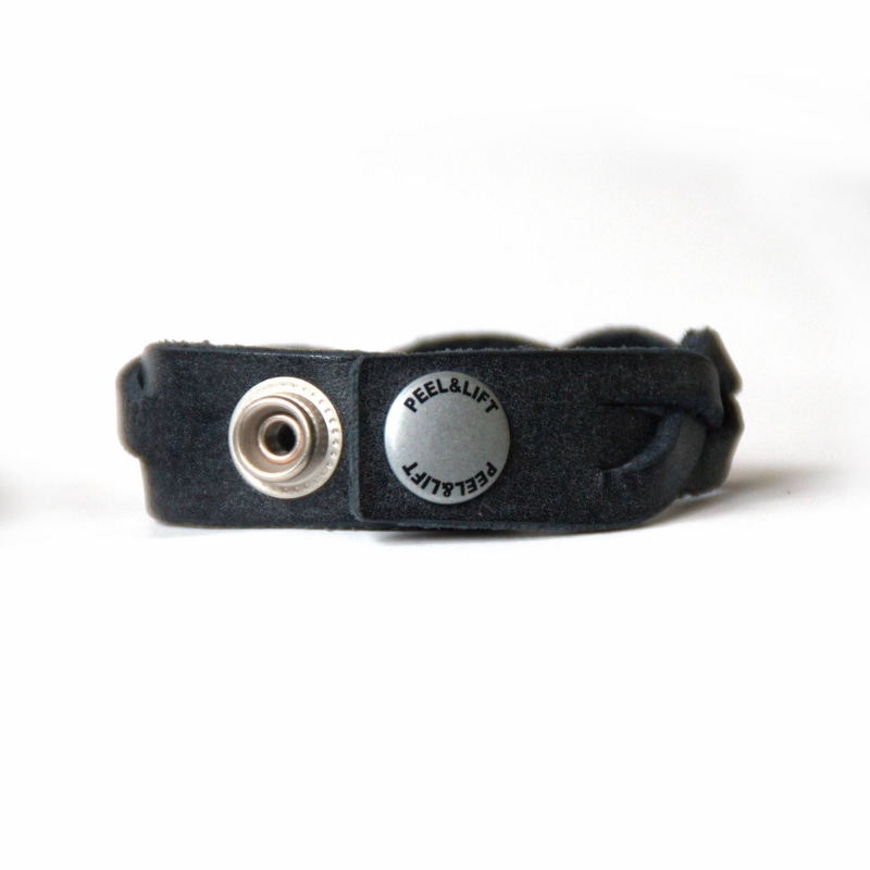 PEEL&LIFT ピールアンドリフト braided leather bracelet Black