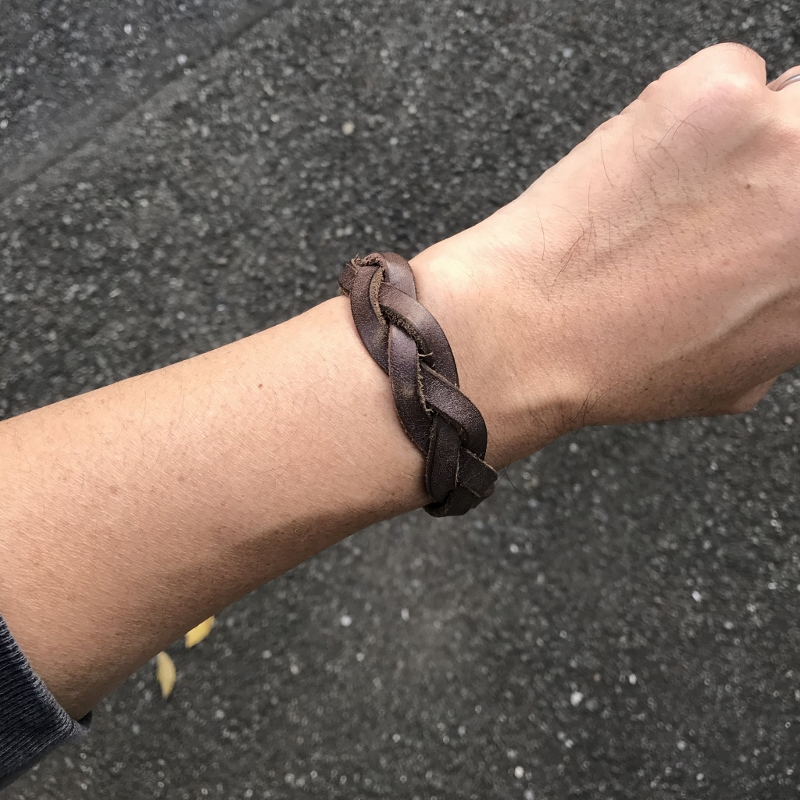 PEEL&LIFT ピールアンドリフト braided leather bracelet Brown