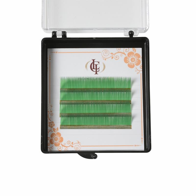 ボリュームラッシュ・カラー グリーン Cカール 0.07×12mm
