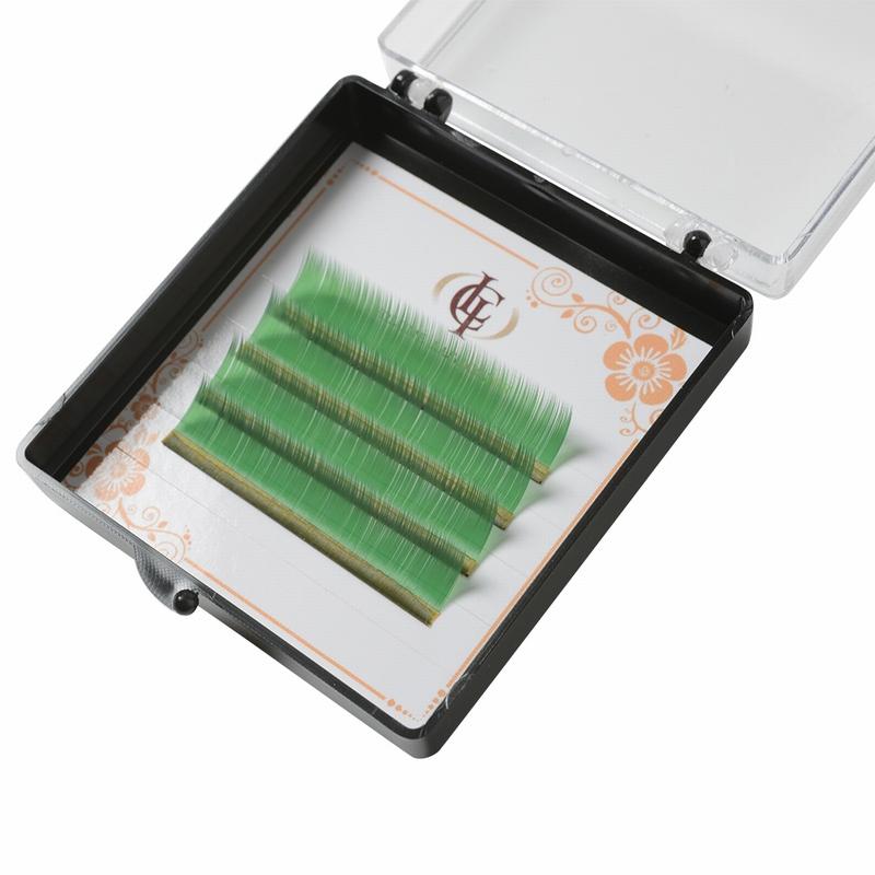 ボリュームラッシュ・カラー グリーン Cカール 0.07×14mm