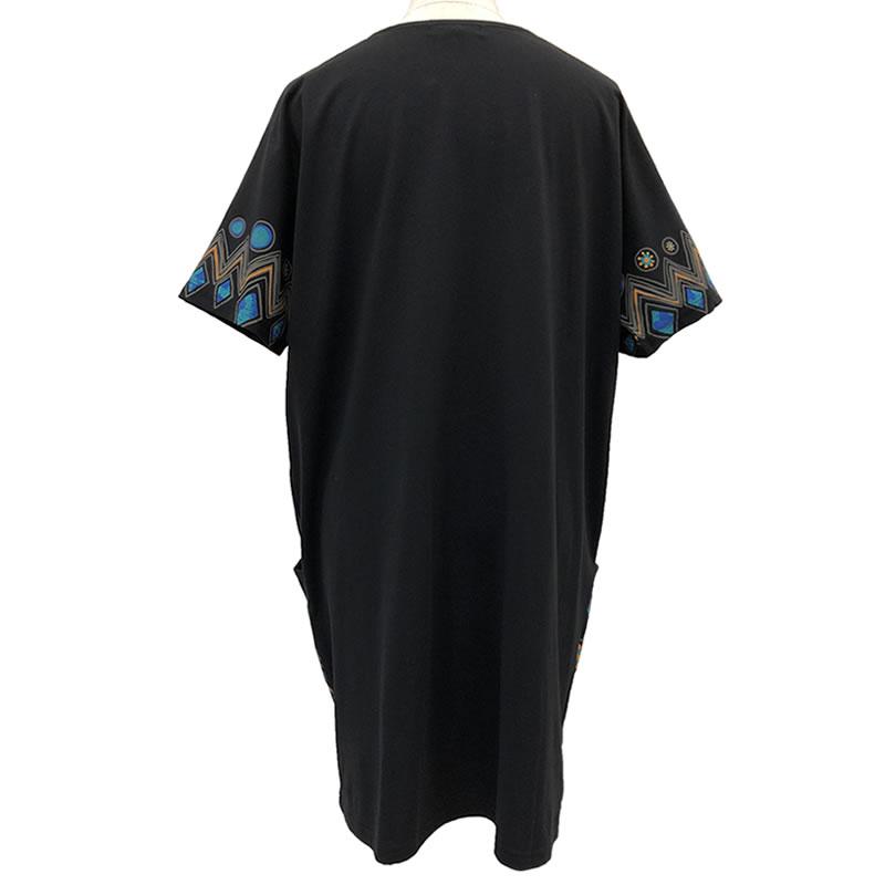 チュニック ワンピース ストレート 半袖 ポケット付き SS10 20 【cinq dix】