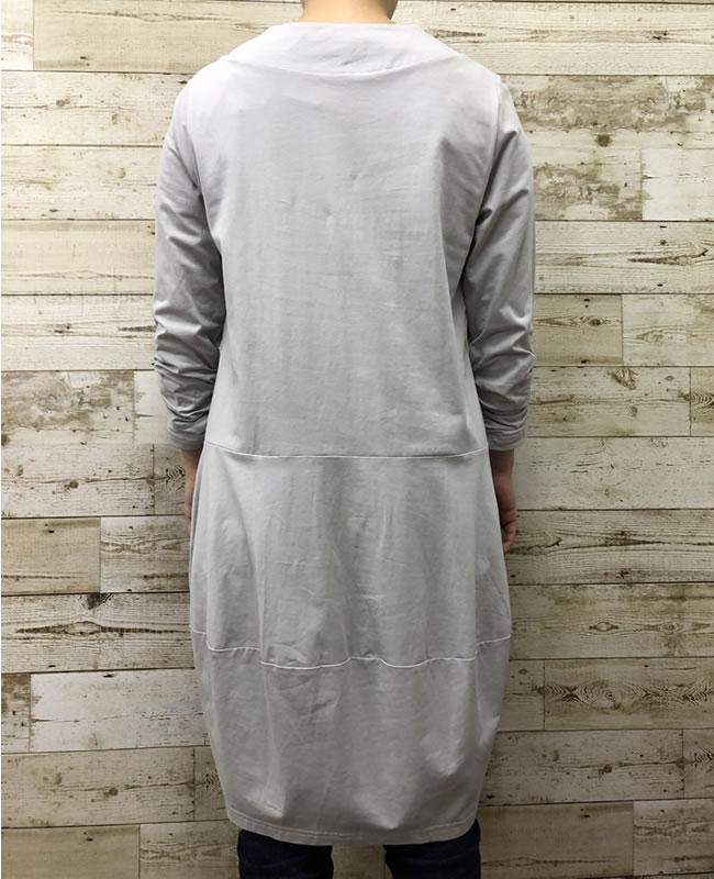 チュニック バルーン ポケット付き 七分袖 AW05 18 【cinq dix】
