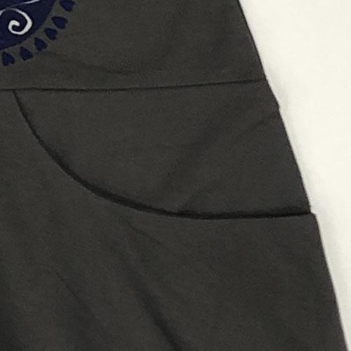 チュニック バルーン ポケット付き 七分袖 AW01 19 【cinq dix】