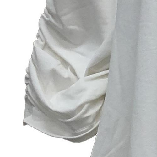 チュニック ワイドヘム ガールズプリント 七分袖 AW02 01 【cinq dix】