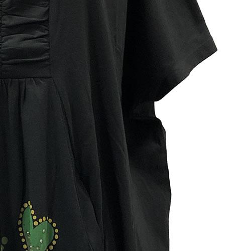 【hiroko kitajima(ヒロコ キタジマ)】 半袖 チュニック ワンピース 切替 ポケット付き 20 0293