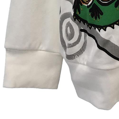 パーカー ガールズプリント ラインストーン ジップアップ 長袖 PK01 01