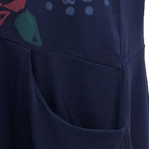 チュニック バルーン ラインストーン ポケット付き 半袖 SS17 04 【cinq dix】