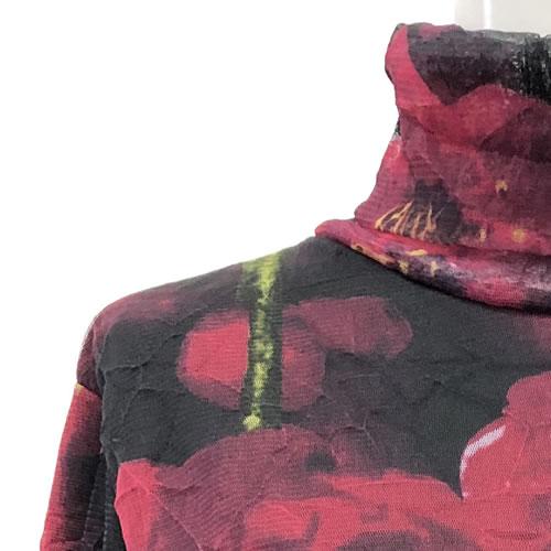 パワーネット カットソー 裏起毛 フリース タートルネック 長袖 1917 12 【cinq dix】