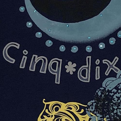 チュニック Aライン ラインストーン 半袖 SS19 04 【cinq dix】