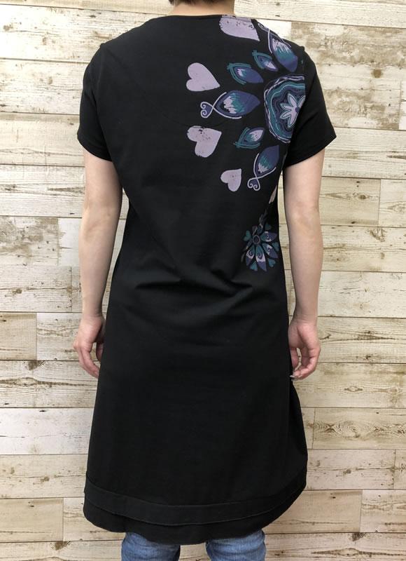チュニック Aライン ラインストーン 裾フリル 半袖 SS20 20 【cinq dix】