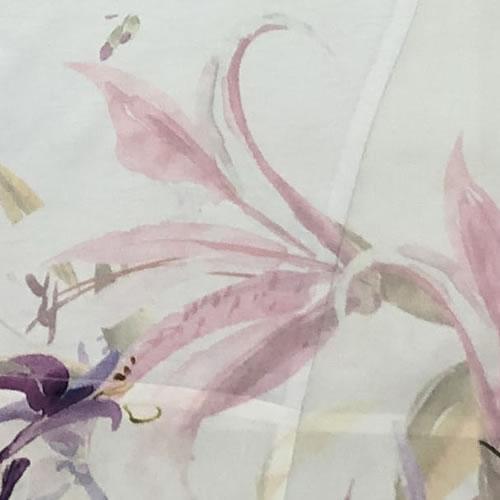 チュニック アシンメトリー ラインストーン シフォン 転写プリント 半袖 0083 18 【cinq dix】