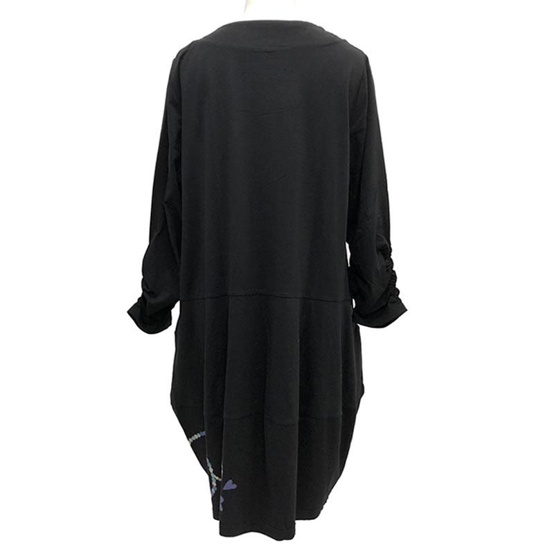 チュニック バルーン ポケット付き 七分袖 SS01 20 【cinq dix】