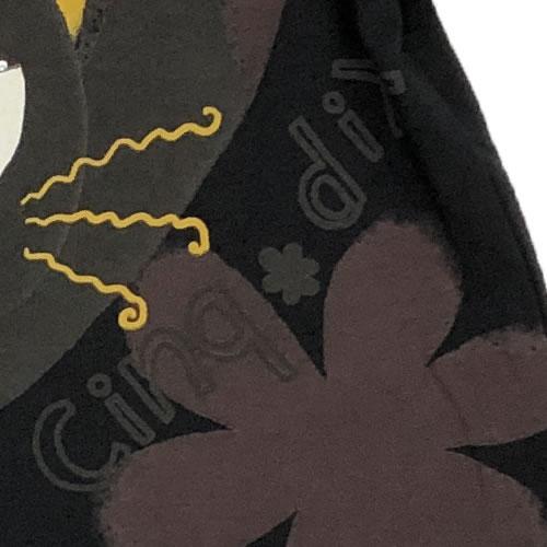 チュニック バルーン アニマルプリント ネコ ポケット付き 半袖 SS24 20 【cinq dix】