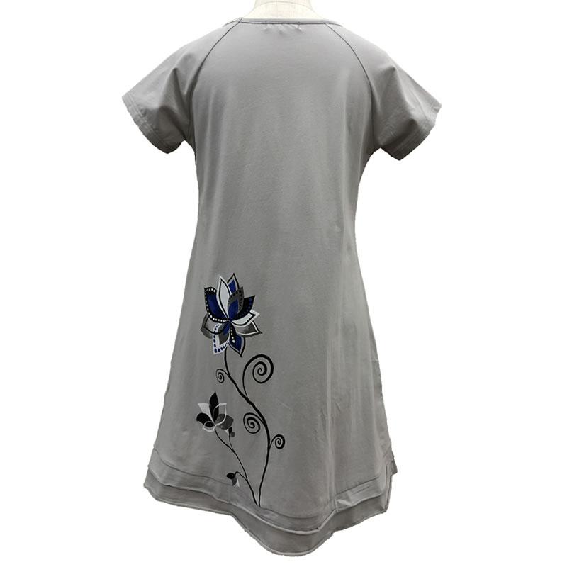 チュニック Aライン ラインストーン 裾フリル 半袖 SS25 18 【cinq dix】