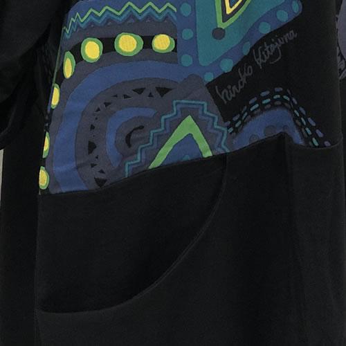 【hiroko kitajima(ヒロコ キタジマ)】 七分袖 チュニック バルーン ポケット付き 20 0290
