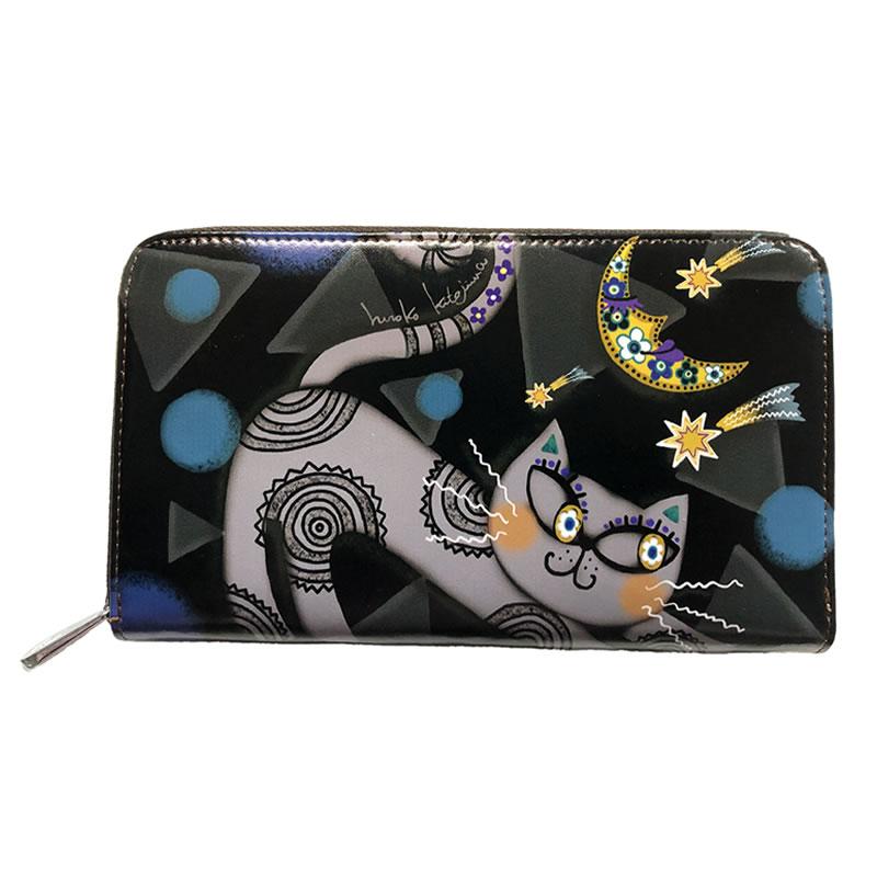 【hiroko kitajima(ヒロコ キタジマ)】 牛革 財布 ラウンドファスナー 20 WL01