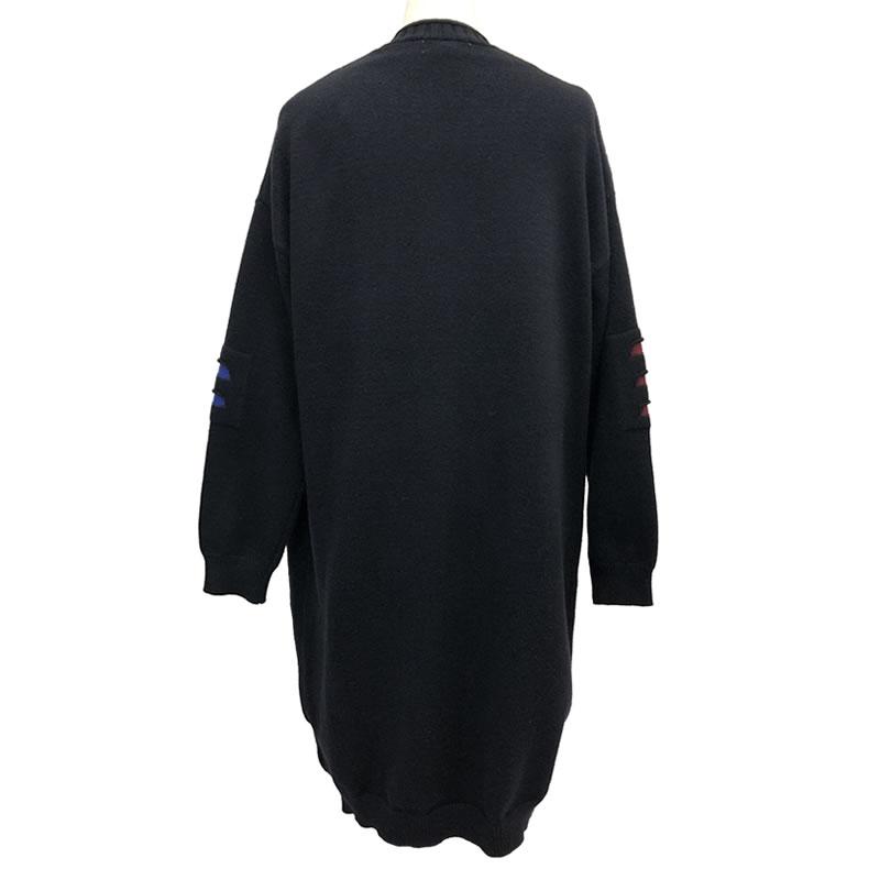 ニット カーディガン 丈長 長袖 ポケット付き M06 20 【cinq dix】