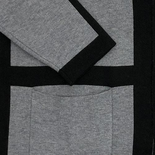 ニット カーディガン 丈長 長袖 ポケット付き N034 18 【cinq dix】