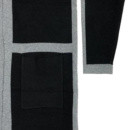 ニット カーディガン 丈長 長袖 ポケット付き N034 20 【cinq dix】