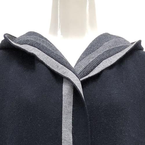 ニット カーディガン 丈長 長袖 フード ポケット付き N022 04 【cinq dix】