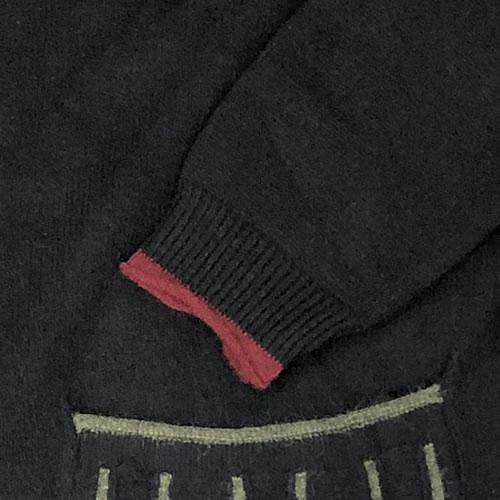 ニット カーディガン 丈長 長袖 ポケット付き 9037 20 【cinq dix】