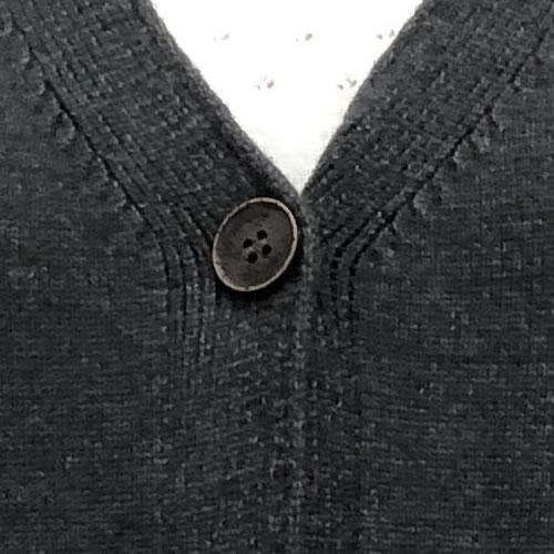 ニット カーディガン 丈長 長袖 ポケット付き 9050 18 【cinq dix】