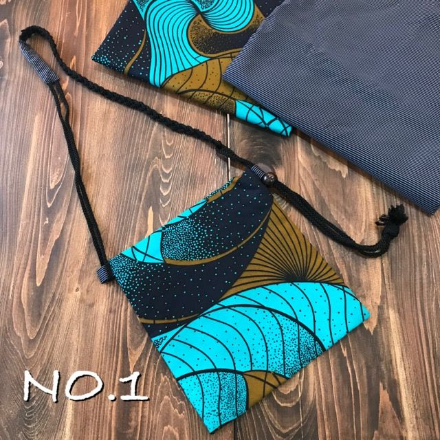 kawamura蕨双子織×アフリカンプリント ポシェット