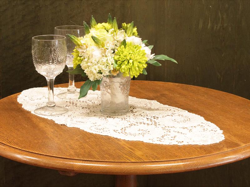 【Wポイント】ヨーロピアンレース テーブルマット30×62cm