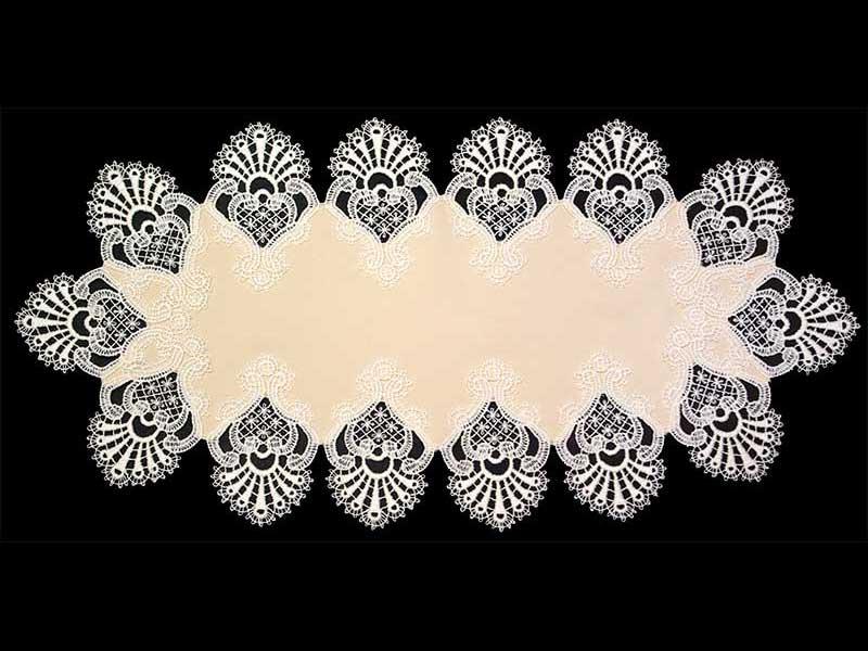 【Wポイント】ヨーロピアンレース テーブルマット30×59cm