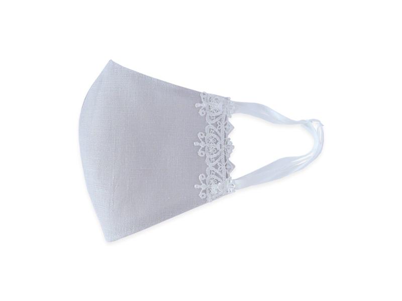 【3層・大判】洗えるレースマスク/ホワイトレース