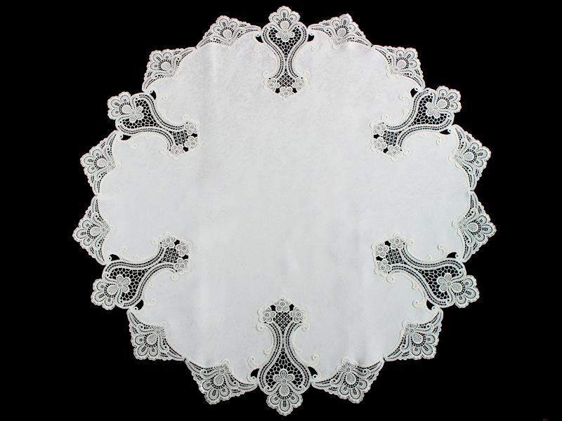 ヨーロピアンレース テーブルクロス97cm円形