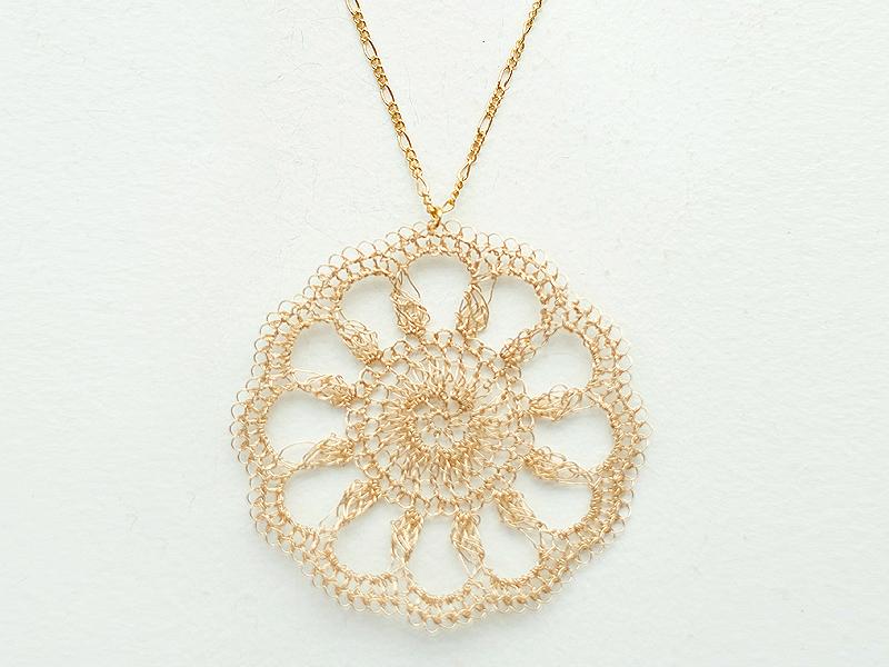 【受注販売】Doily Necklace - Crochet with Wire-