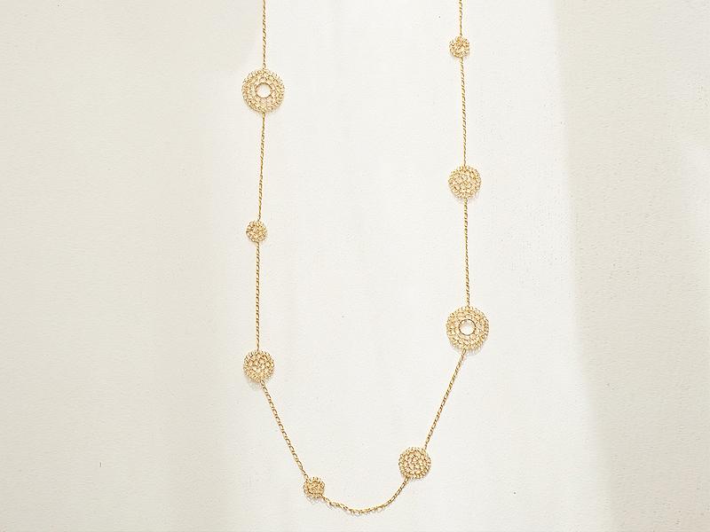 【受注販売】Kirakira(F) Necklace - Crochet with Wire-